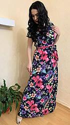 Плаття довге легке зі знімним поясом