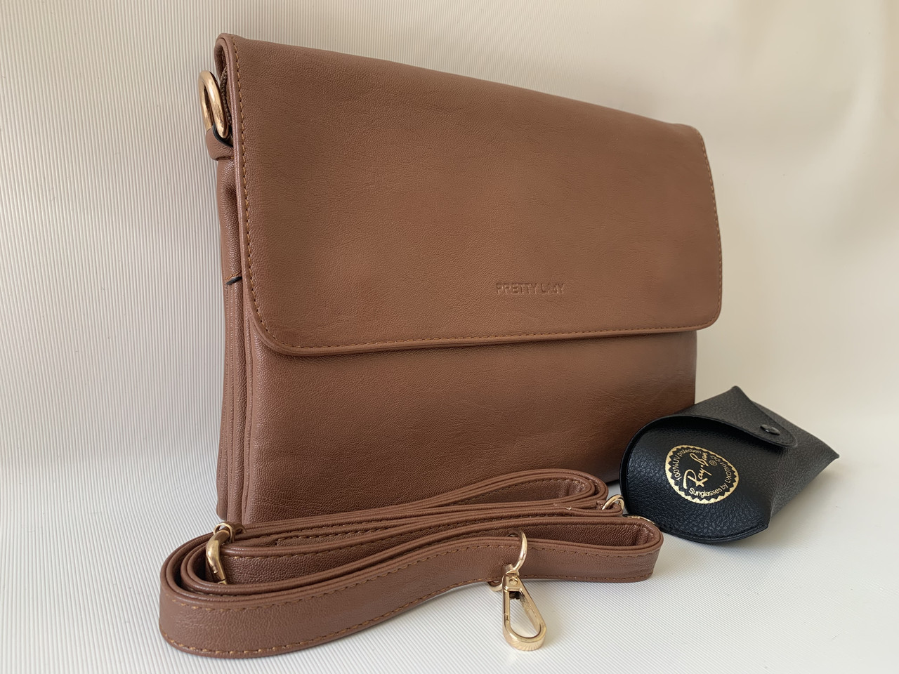 Женская коричневая сумка клатч Pretty Woman