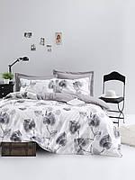 Постельное белье Lotus Home Perfect Ranforce - Crosby серый евро