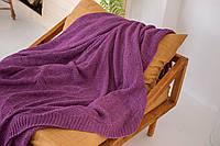 В'язаний плед Комільфо 220х240 фіолетовий VZ0698