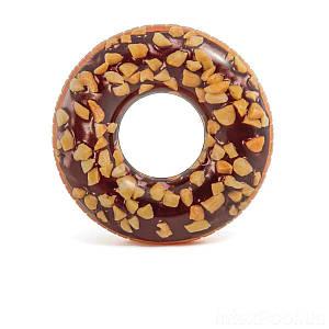Надувной круг Intex 56262 «Шоколадный пончик», 114 см, (Оригинал)