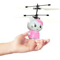 Летающий светящийся сенсорный шар вертолет Sensor Flying Ball Hello Kitty