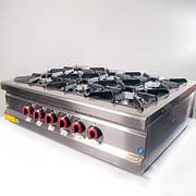 Плита 6-ти конфорочная настольная МХ23 с газовым контроллером Pimak (Турция)