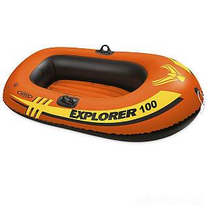 Одноместная надувная лодка Intex 58329 Explorer 100, 147 х 84 см, (Оригинал)