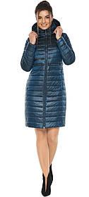Практична куртка жіноча колір темна блакить модель 68410