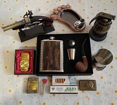 Зажигалки Пепельницы Подарочные наборы Фляги Металлические стаканчики Визитницы