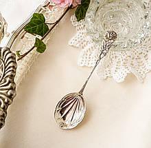 Сервировочная серебряная ложка с розой Хильдесхаймская Роза, серебро, ANTIKO 800 проба, Германия