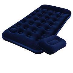 Надувний матрац Pavillo Bestway 67224-1, 99 х 188 х 22 см, з ножним насосом, подушкою. Одномісний, (Оригінал)