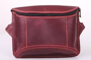 Спорт-сумка нагрудна з натуральної шкіри крейзі хорс ручної роботи