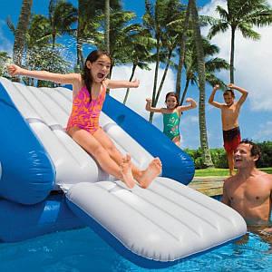Надувний ігровий центр - водна гірка Intex 58849-2 «Water Slide», 333 х 206 х 117 см, з кульками