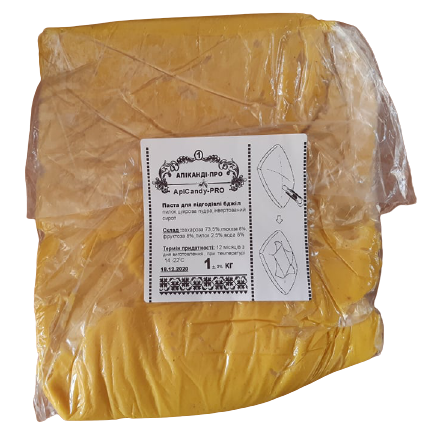 Канди подкормка для пчел (с пыльцой 2,5%) 1 кг