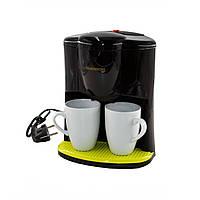 Кофеварка капельная Crownberg CB на две чашки кофемашина для дома 600ВТ (1560)