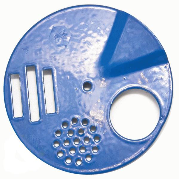 Летковий загороджувач верхній круглий 5-функціональний, полім. покр. (d=90мм)