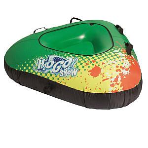 Одноместный надувной сани - тюбинг для катания Bestway 39053, 142 см, зеленый, (Оригинал)