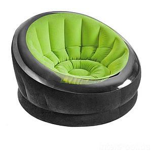 Надувное кресло Intex 66581, 112 х 109 х 69 см, зеленое, (Оригинал)