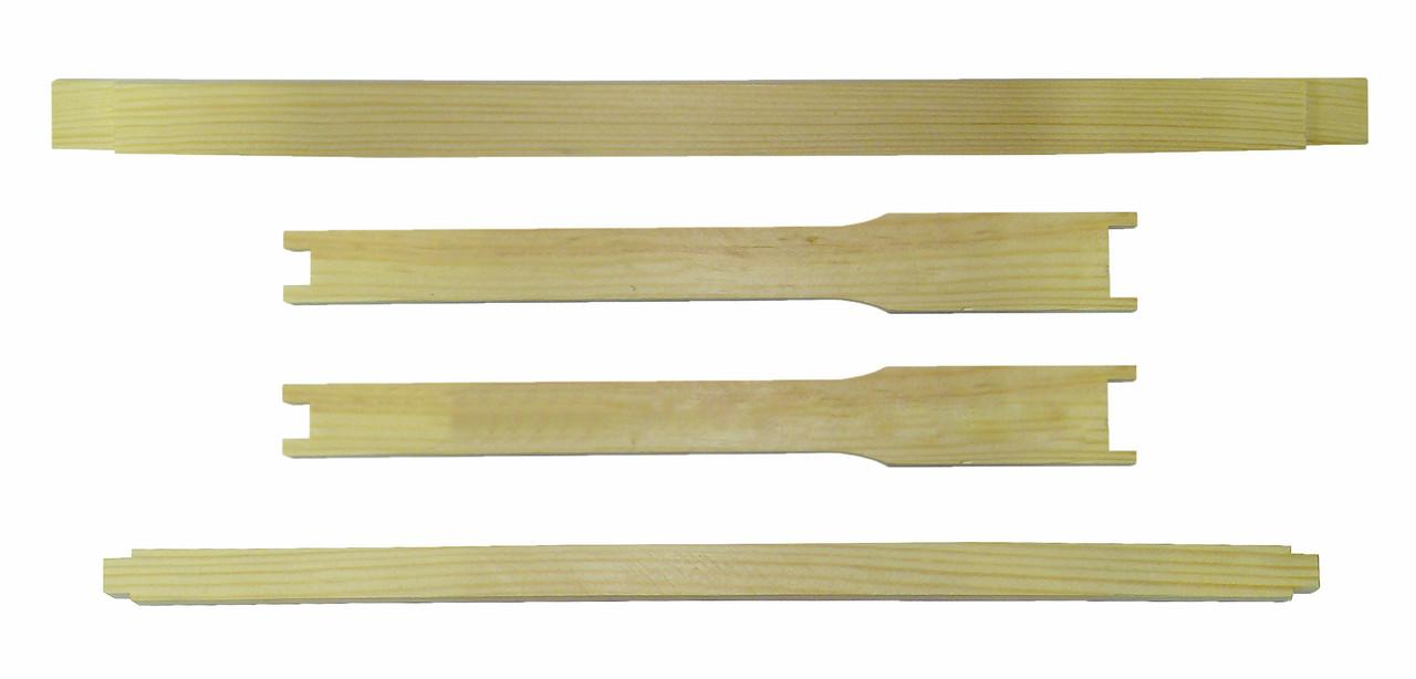 Рамка для вуликів Дадан (435х300) ЛЮКС, еврошип верх і низ, з розд. Гофмана