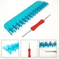 Станок для вязания шарфов. Крючок, Инструмент, для ручного творчества. Спицы, крючки и аксессуары для вязания