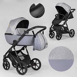 Дитяча коляска 2 в 1 Expander DEXO D-15022 (1) колір GreyFox, водовідштовхувальна тканина + еко-шкіра
