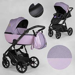 Дитяча коляска 2 в 1 Expander DEXO D-21044 (1) колір Pink, водовідштовхувальна тканина + еко-шкіра