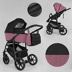 Дитяча коляска 2 в 1 Expander ELITE ELT-60305 (1) колір Rose, тканина з водовідштовхувальним просоченням