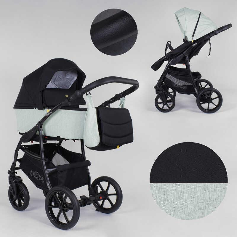 Детская коляска 2 в 1 Expander ELITE  ELT-90607 (1) цвет Mint, ткань с водоотталкивающей пропиткой