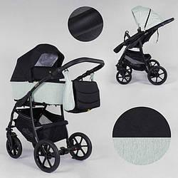 Дитяча коляска 2 в 1 Expander ELITE ELT-90607 (1) колір Mint, тканина з водовідштовхувальним просоченням