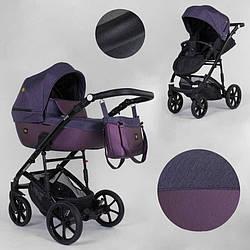 Дитяча коляска 2 в 1 Expander VIVA V-26883 (1) колір Plum, водовідштовхувальна тканина + еко-шкіра