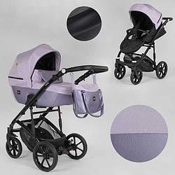 Дитяча коляска 2 в 1 Expander VIVA V-41007 (1) колір Pink, водовідштовхувальна тканина + еко-шкіра