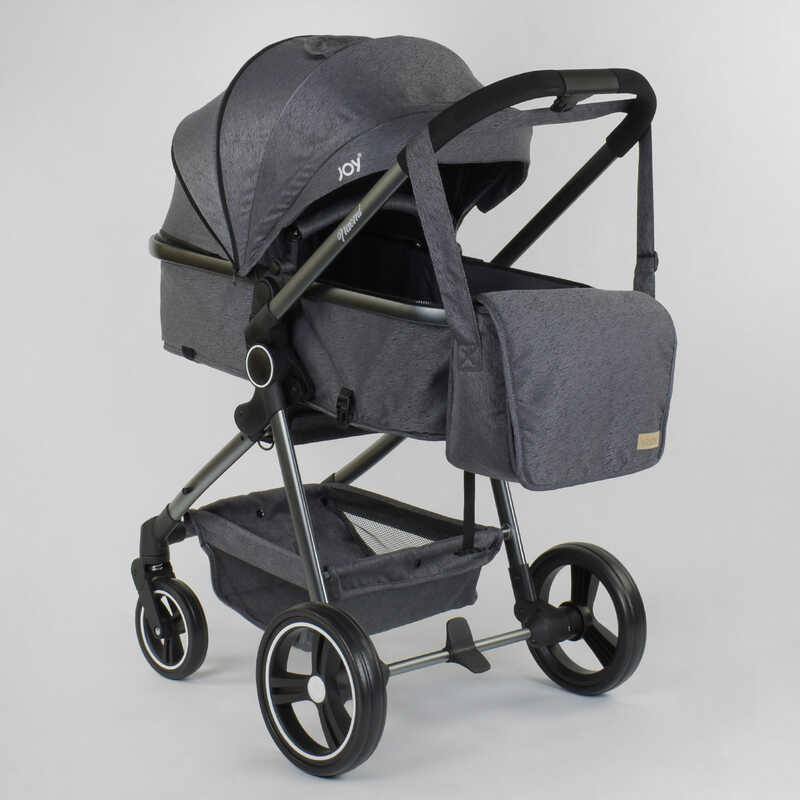 """Коляска дитяча трансформер """"JOY"""" Naomi 96471 (1) універсальна 2 в 1, алюмінієва рама, сумка, футкавер"""