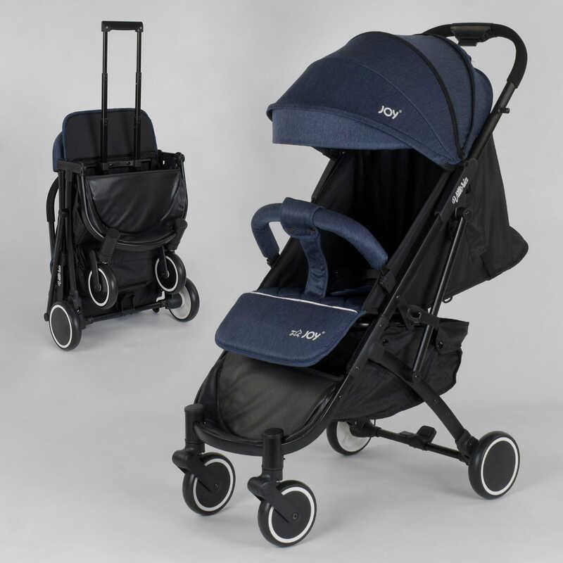 """Коляска прогулянкова дитяча """"JOY"""" Vittoria 83270 (1) колір ДЖИНС, алюмінієва рама, футкавер, телескопічна"""