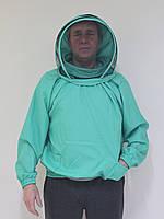 Куртка пчеловода Евро, с защитной маской, габардин, размер