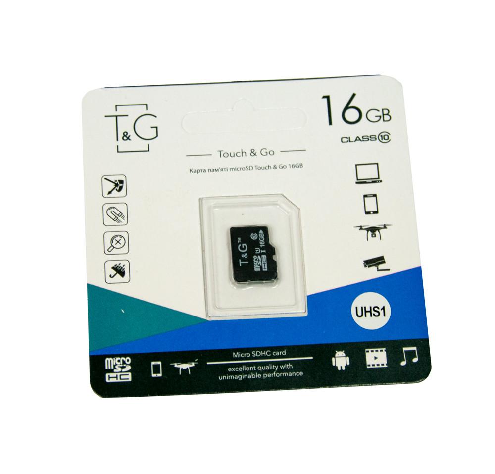 Карта памяти TG 16 GB class 10, микро сд память для телефона, фотоаппарата, sd карта (GK)