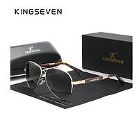 Фирменные солнцезащитные очки Авиаторы из титанового сплава с градиентными линзами N7730 KINGSEVEN Италия
