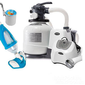 Оборудование для бассейна «Эксклюзив MAX» Intex 26648-5 (10 000 л/ч, 12 г/ч, скиммер, пылесос,