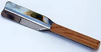 Ложка-совок для меду з короткою ручкою, нержавіюча сталь
