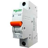 Автомат Шнайдер 25A 1Р BA63 C25 Schneider Electric 11205