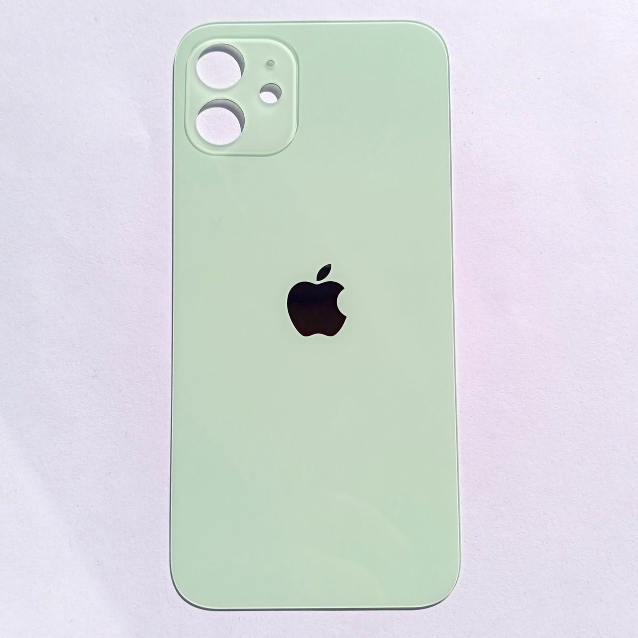 Задня панель корпусу Novael для Apple iPhone 12 Green Big Hole