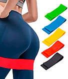 Гумки для фітнесу і спорту (стрічка еспандер) гумові петлі для ніг/рук/сідниць набір 5шт OSPORT (OF-0021), фото 10