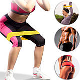 Гумки для фітнесу і спорту (стрічка еспандер) гумові петлі для ніг/рук/сідниць набір 5шт OSPORT (OF-0021), фото 6