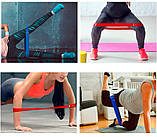 Гумки для фітнесу і спорту (стрічка еспандер) гумові петлі для ніг/рук/сідниць набір 5шт OSPORT (OF-0021), фото 7