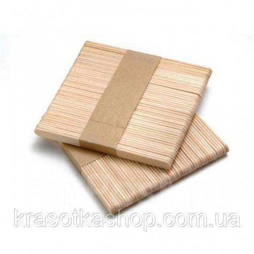 Шпатель деревянный узкий для воска, 50 шт/уп, 9*0,9 см