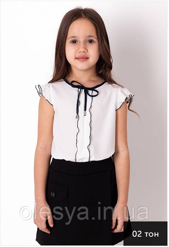 Блузка школьная тм Mevis (Мевис) 3765 размеры 116-146
