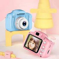 Детский цифровой фотоаппарат. мини камера в чехле для ребенка.детская цветная фотокамера.интерактивная игрушка, фото 1