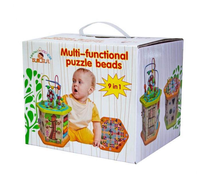 Дерев'яна розвиваюча іграшка-сортер 9 в 1 (5116)