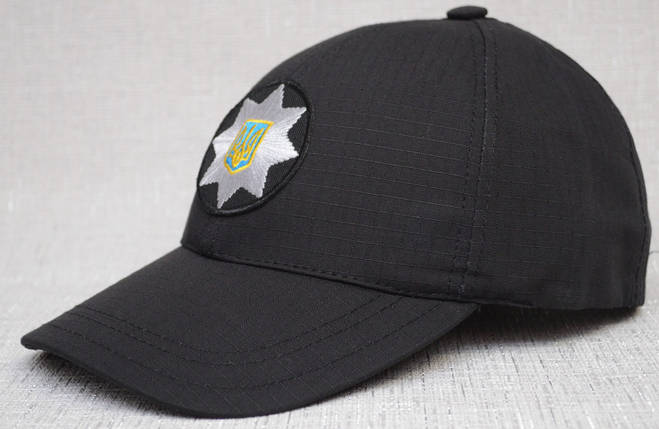 Чёрная полицейская бейсболка с тефлоновой пропиткой, фото 2