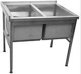 Мийка виробнича 2-х секційна без полиці, фото 2