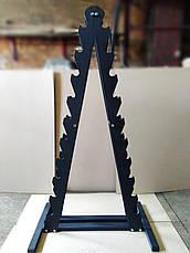 Гантельный ряд от 1 до 10 кг PROFI со стойкой в комплекте. Общий вес 110 кг, фото 2