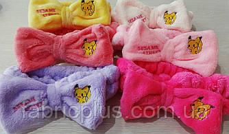 Детская повязка для волос махровая цвет в ассортименте