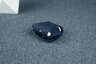 Чохол для AirPods 1, AirPods 2, матова Вінтажна шкіра, колір Синій, тиснення №4, фото 2