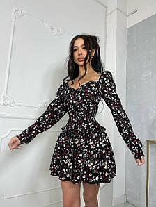 Женское платье бюстье с пышной юбкой и корсетом 42-46 р
